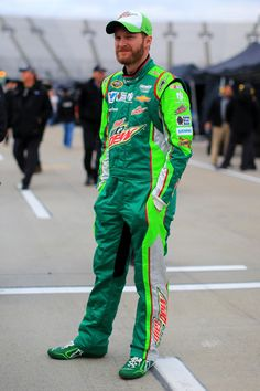 , driver of the DIET MOUNTAIN DEW Chevrolet, stands on the grid prior to qualifying for the NASCAR Sprint Cup Series STP 500 at Martinsville Speedway on March 2015 in. Get premium, high resolution news photos at Getty Images Nascar Sprint Cup, Nascar Racing, Martinsville Speedway, Martinsville Virginia, Elliott Sadler, Kyle Larson, My Champion, Danica Patrick, Jeff Gordon