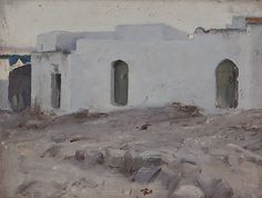 John Singer Sargent  Moorish Buildings on a Cloudy Day, 1879-80 Oil on wood Dimensions: 10 1/4 x 13 3/4 in. (26 x 34.9 cm) Metropolitan Museum of Art, NYC