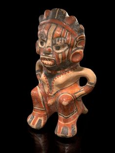Greater Nicoya female figure, AD 800–1350. Near Rivas, Rivas Department, Nicaragua, Pottery, clay slip, and paint.  Collected about 1920 by Raul R. Barrios, acquired by MAI in 1928 (15/9362). Photo by Ernest Amoroso, Smithsonian's National Museum of the American Indian.