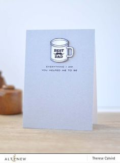 Therese creates a clean and simple card with the Best Dad Stamp Set. Super cute! www.altenew.com