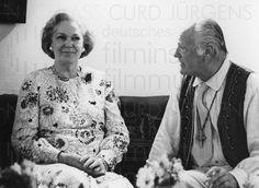 Nachlass Curd Jürgens | Curd Jürgens und Begum Aga Khan III., 1