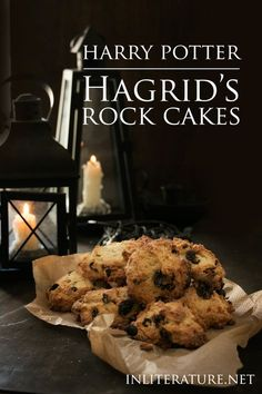 """The rock cakes were shapeless lumps with raisins that almost broke their teeth…"" -Harry Potter and the Philosopher's Stone, J. Rowling Make this delicious version of Hagrid's rock cakes for a Harry Potter tea party. Gateau Harry Potter, Harry Potter Food, Harry Potter Theme, Harry Potter Birthday, Harry Potter Desserts, Harry Potter Parties, Harry Potter Backen, Harry Potter Marathon, Anniversaire Harry Potter"