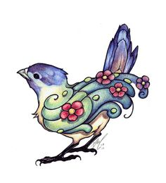 little bird tattoo by ~theumbrella on deviantART