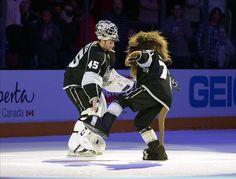 Showing Sportsmanship and Dedication, Jonathan Bernier Gets Nominated for Masterton Trophy Bernie Mac, Maple Leafs Hockey, Team Mascots, Los Angeles Kings, Michigan State Spartans, Toronto Maple Leafs, Hockey Teams, Nhl, Adidas Jacket