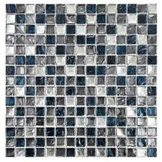 Merola Tile Illuvia Square Chromium 12 in. x 12 in. Glass Mosaic Wall Tile