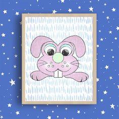 Nursery art print, Nursery Animal Print, Animal Nursery Print, Little animals nursery art print, Little zoo animals, Blue nursery wall art, Kids art collectionBlue kides decor, by MyGalleryWall