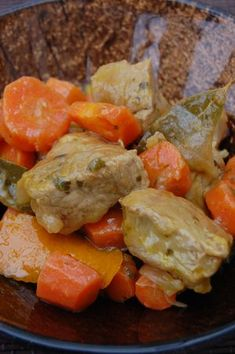 Sauté de veau aux carottes et à l'orange