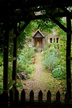 Secret garden, France: i want a secret garden. my hubby was in the middle of making me one, and we had to move.