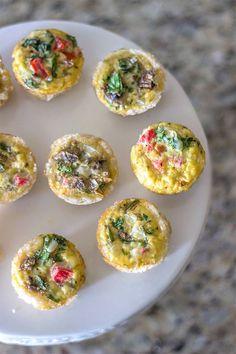 Gluten-Free, Dairy-Free Mini Quiche Bites // www.naturalsweetrecipes.com
