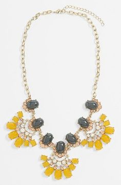 Gorgeous Yellow and Gray Tildon 'Vintage Floral' Statement Necklace available at I Love Jewelry, Statement Jewelry, Jewelry Box, Jewelery, Jewelry Accessories, Fashion Accessories, Fashion Jewelry, Fashion Necklace, Style Fashion