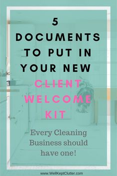 cleaning service Every Cleaning Business should be welcoming new clients with a New Client Welcome Kit. Read how you can easily build one! Cleaning Companies, House Cleaning Services, Cleaning Business, House Cleaning Tips, Spring Cleaning, Business Tips, Professional Cleaning Services, Janitorial Cleaning Services, Cleaning Flyers
