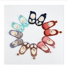 Adorable Animal Design Pompom Slipper Shoes for Toddler/Baby Pom Pom Slippers, Baby Slippers, Baby Socks, Soft Baby Shoes, Baby Girl Shoes, Latest Fashion For Women, Kids Fashion, Event Id, Girls Socks