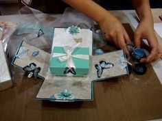 Magic Explosion Birthday Box Birthday Card with Elegance