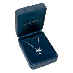 TIFFANY and CO. ELSA PERETTI Platinum Cross Pendant at 1stdibs