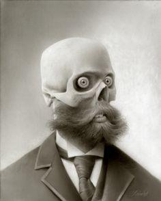 Skull Me (Travis Louie) Art Et Illustration, Illustrations, Pablo Picasso, Creepy, Georges Braque, Skull And Bones, Skull Art, Dark Art, Oeuvre D'art