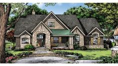 Home Plan HOMEPW76893 - 2004 Square Foot, 3 Bedroom 2 Bathroom European Home with 2 Garage Bays | Homeplans.com