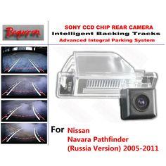 for Nissan Navara Pathfinder 2005~2011 CCD Car Backup Parking Camera Intelligent Tracks Dynamic Guidance Rear View Camera #Affiliate