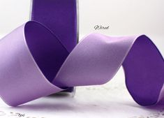 "Wired Purple/Lavender Double Faced Satin Ribbon 1.5"" wide, Weddings, Wreaths, Gift Wrap, Trim, Bouquets, Party Supplies"