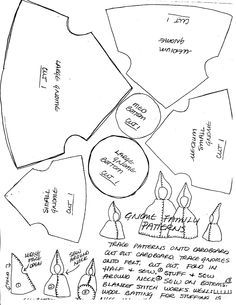 Scroll way down-Felt Gnome Family Pattern: Hand sewing felt gnome Waldorf Crafts, Waldorf Dolls, Waldorf Math, Waldorf Curriculum, Christmas Gnome, Christmas Crafts, Puzzle Photo, Doll Patterns, Sewing Patterns