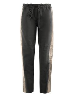 Les Chiffoniers - drawstring leather trousers