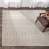 The Curated Nomad Ashbury Trellis Grey Rug - How To Install Pavers, Concrete Patio, Concrete Bags, Patio Tiles, Concrete Stairs, Tufted Bed, Moroccan Area Rug, Framed Tv, Patio Makeover