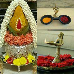 Kalash Rangoli Designs Flower, Flower Rangoli, Beautiful Rangoli Designs, Diwali Decorations At Home, Ribbon Decorations, Festival Decorations, Silver Pooja Items, Housewarming Decorations, Indian Room