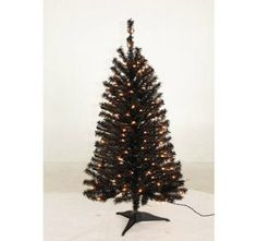 Black 4 Foot Mini-Tree: Pre-Lit Artificial Christmas Tree with 225 Tips & 200 Warm Clear SureBright Lights [Free 2-Year Extended Warranty] Quest Living