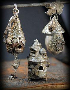 Acorn Fairy House Pendant by EAdornments on Etsy