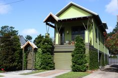 My Houzz: Newly Sustainable in New Orleans Energy-efficient and recycled materials plus an elevated perch give a post-Katrina Louisiana home a great new start