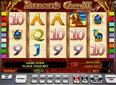 Pharaoh's Gold III play for real money. The third part of the magnificent machine to the Egyptian theme of the Novomatic primarily characterized by an improved graphic design. As in the previous version, the game Pharaoh's Gold slot 3 has 5 reels and 9 paylines. The player is available Wild symbols and Scatter, as well as additional