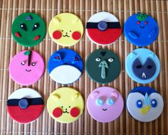 Pokemon Cupcake toppers by cakeorationstore on Etsy, $24.00