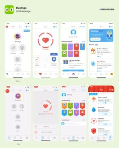 Analyze design patterns and microinteractions in Duolingo and find how they do onboarding, coach marks, animations and more. Mobile App Ui, Mobile App Design, Game Ui Design, Ux Design, Flat Design, Ui Inspiration, Game App, Interactive Design, Learning Spanish