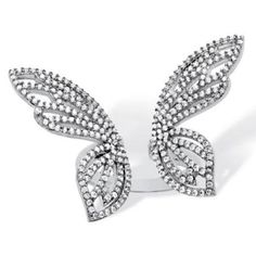 Cocktail party ring butterfly beautiful white solid sterling silver jewelry Cz* #NIKI #Cocktail #Engagement