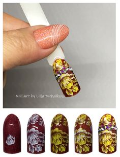 Nail art color gel with vitrage grl Truscada. Nail Art, Nails, Fat, Color, Nail Arts, Projects To Try, Ongles, Finger Nails, Colour