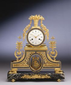 A DIRECTOIRE TABLE CLOCK, BY PHILIBERT PONT, PARIS, DATED 1795