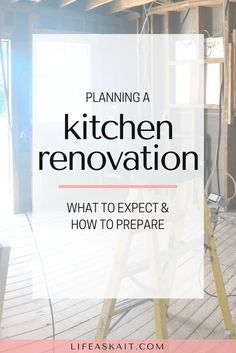 Kitchen renovation,