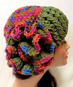 Women's Crochet Derby Hat Autumn and Spring Fashion by Africancrab,