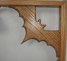 Bat symbol for wood bookcase