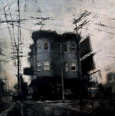 The Bryant Street Bar - 48 x 48, Oil on Panel, Gallery ID# #12832CHS