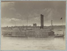 """This has been a big month for women in the Navy with Admiral Michelle Howard's appointment as VCNO. Here is a picture of the USS Red Rover, a ship of many """"firsts."""" The first four female nurses, all. American Civil War, American History, Brown Water Navy, Steam Boats, Confederate States Of America, Civil War Photos, Model Ships, American Revolution, Battleship"""