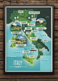 Showcase and discover creative work on the world's leading online platform for creative industries. Travel Maps, Travel Posters, Map Design, Book Design, Prospectus, Italy Map, Information Design, Travel Illustration, Map Vector