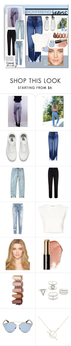 """""""Boyfriend Jeans"""" by alrdesign ❤ liked on Polyvore featuring Levi's, Lucky Brand, Vans, 3x1, Hollister Co., AG Adriano Goldschmied, Dsquared2, Puma, Bobbi Brown Cosmetics and Charlotte Russe"""