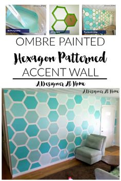 ombre painted hexago...
