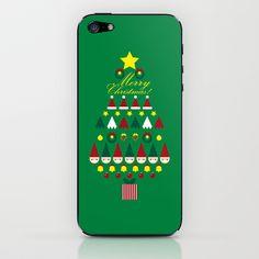 FLAT CHRISTMAS series -CHRISTMAS TREE_G iPhone & iPod Skin by SEOL.D - $15.00
