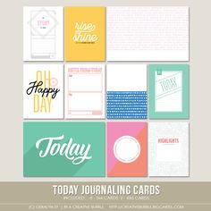 This set of ten digital journaling cards is perfect for pocket page protectors…