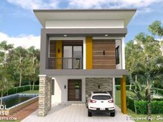 Small Home Design Plan with 3 Bedrooms - SamPhoas Plan Bungalow House Plans, Bungalow House Design, Bedroom House Plans, House Floor Plans, Duplex House, Two Storey House Plans, 2 Storey House Design, Modern Minimalist House, House Design Pictures