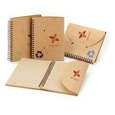 Various beautiful eco journals and notebooks