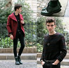"""Community """"hype"""" promotes looks to the front page. Dark Skinny Jeans, Super Skinny Jeans, Men Street, Street Wear, Burton Menswear, International Style, Dress For Success, Fashion Lookbook, Simple Outfits"""