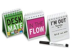 DeskMate 24 Desktop Flip Signs, Office Cubicle Accessory to Discourage or Invite Distractions