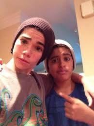 Cameron Boyce and Karan Brar